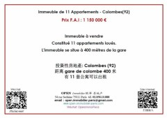 Immeuble de 11 Appartements - Colombes 92