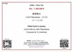 Hôtel - Paris 10e