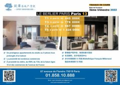 Appartement Neuf Paris 13 T1 au T5